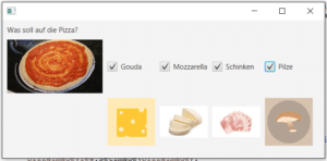 Check Box in JavaFX Pizza Programm