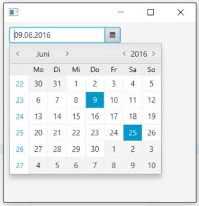 Date Picker in JavaFX