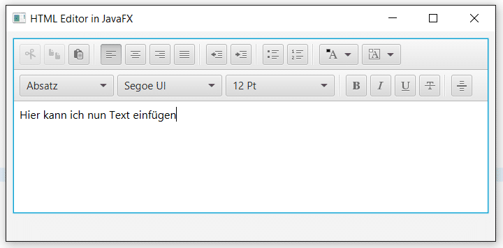 HTML Editor in JavaFX