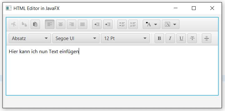 HTML Editor in JavaFX