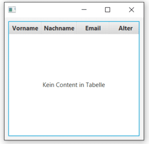 Table View in JavaFX