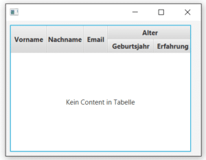Table View in JavaFX nisten der spalten