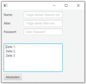TextArea in JavaFx Java 8 GUI
