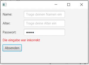 password field in javaFX java 8 gui und label