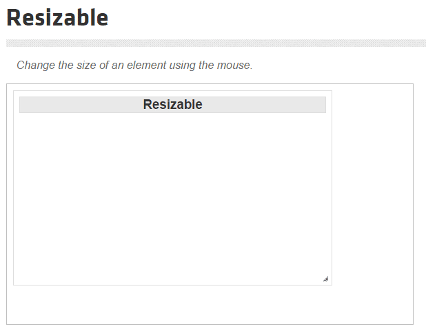 Resizable in jQuery UI